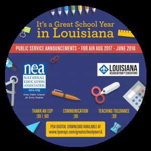 Back to School CD Label 2017 - Louisiana circle