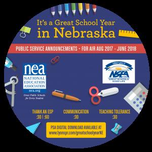 Back to School CD Label 2017 - Nebraska circle