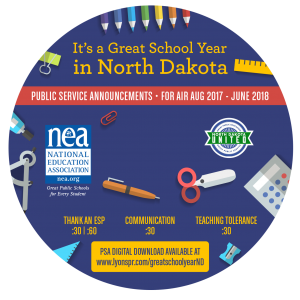 Back to School CD Label 2017 - North Dakota circle