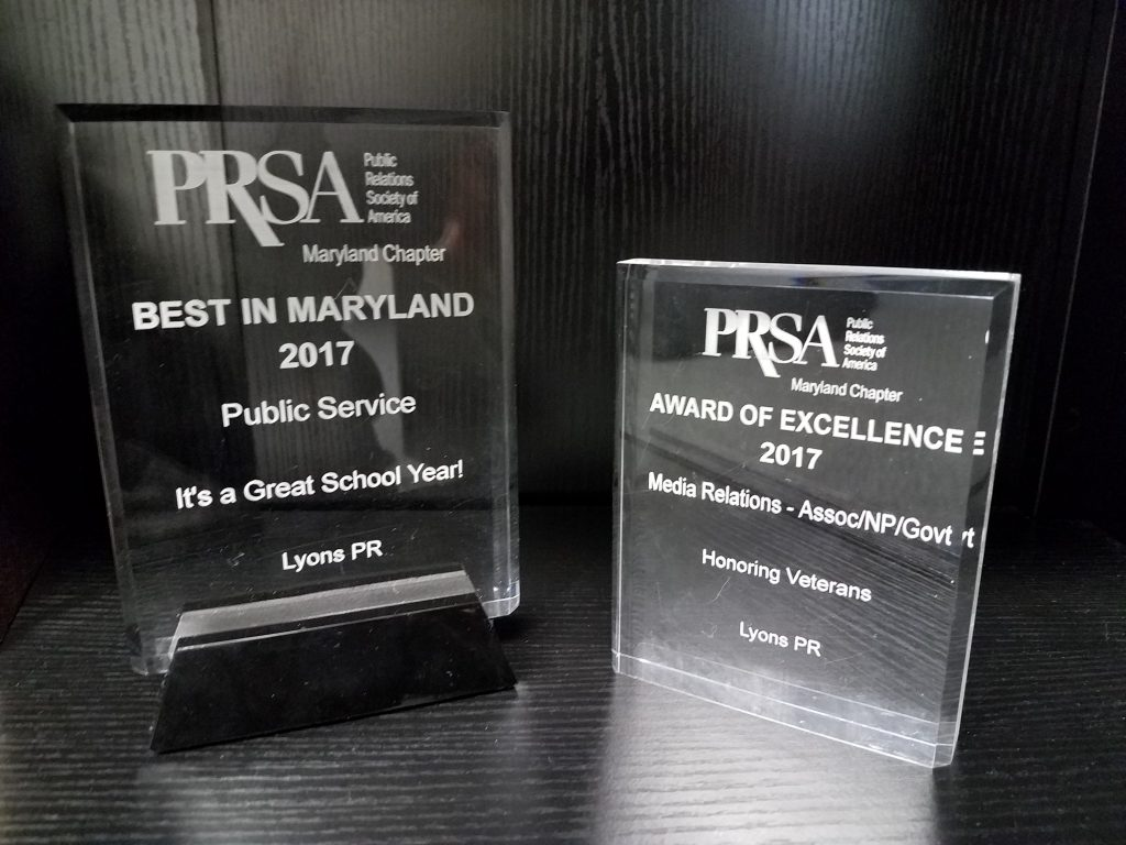 Lyons PR Maryland PRSA Awards